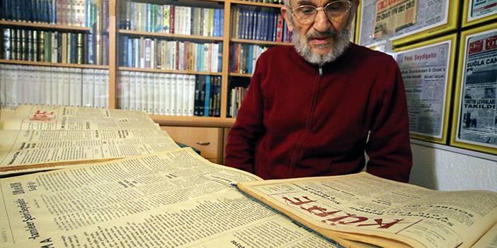 52 yıllık gazete arşivine gözü gibi bakıyor
