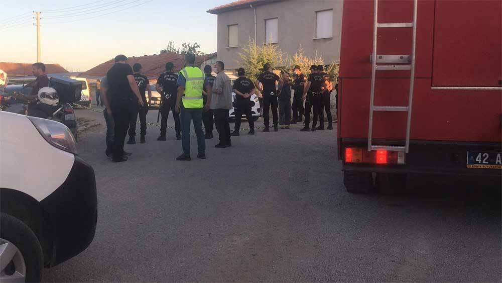 Konya'da bir aile vahşice katledildi! Olay yerinden görüntüler 1
