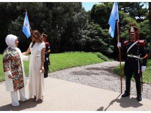 Emine Erdoğan, Arjantin Devlet Başkanı'nın eşi ile bir araya geldi