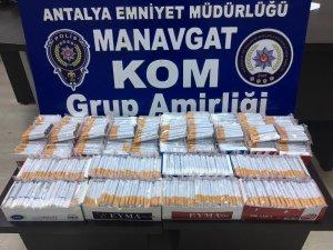 Antalya'da kaçak sigara operasyonu