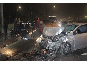Haliç köprüsünde zincirleme kaza: 4 yaralı