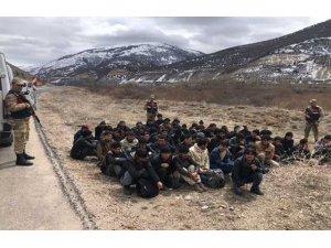 Bayburt'ta 61 düzensiz göçmen yakalandı