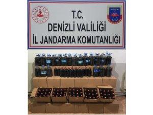 Jandarma bin 263 litre kaçak şarap yakaladı