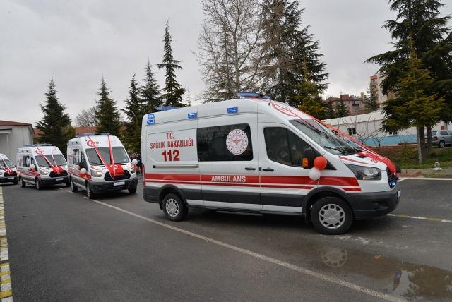 Konya'da 7 ilçeye yeni ambulans