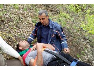 Tunceli'de kayalıklardan düşen kişi AFAD ekiplerince kurtarıldı