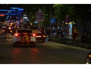 Kahramanmaraş'ta Galatasaraylı taraftarların galibiyet sevinci
