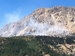 Kahramanmaraş'ta dağlık alanda çıkan yangın söndürüldü