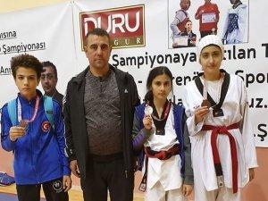 Konya Büyükşehirli taekwondoculardan 3 madalya