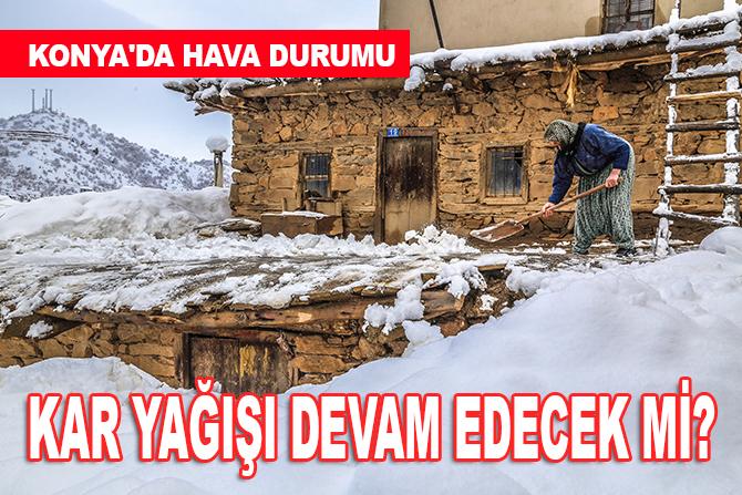 Konya'da hava durumu.. Kar yağışı devam edecek mi?