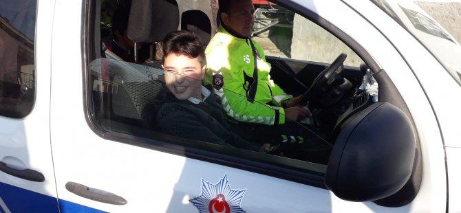 Kulu'daki engelli orta öğretim öğrencinin polis olma hayali gerçek oldu