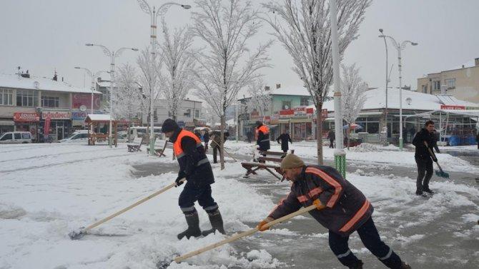 Ereğli'de kar tedbirleri