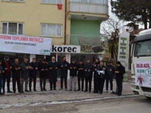 Ilgın'dan İdlib'e yardım tırı yola çıktı
