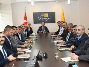 Başkan Altay oda başkanlarıyla metro hattı konusunda istişare etti