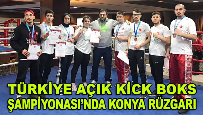 Türkiye Açık Kick Boks Şampiyonası'nda Konya rüzgarı