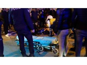 Aracın çarptığı engelli vatandaş yaralandı