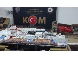 İzmir'de son yılların en büyük cinsel içerikli kaçak ürün operasyonu