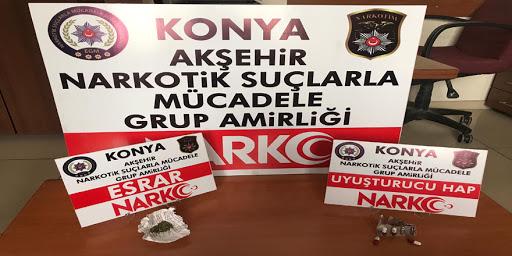 Akşehir'de uyuşturucu operasyonu haberleri bıktırdı!