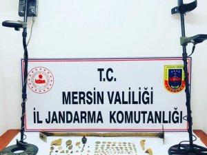Mersin'de 2 şüpheli sit alanında define ararken yakalandı