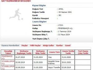 Allahyar, Fenerbahçe'ye geri döndü