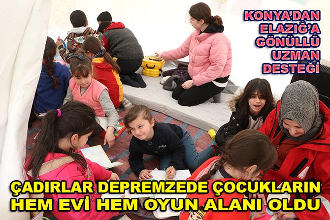 Konya'dan Elazığ'a gönüllü uzman desteği