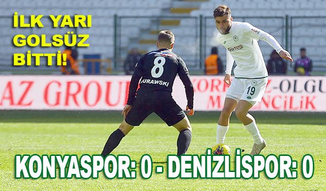 İttifak Holding Konyaspor: 0 - Yukatel Denizlispor: 0 (İlk yarı)