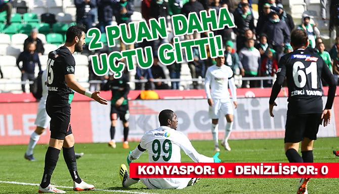 İttifak Holding Konyaspor: 0 - Yukatel Denizlispor: 0