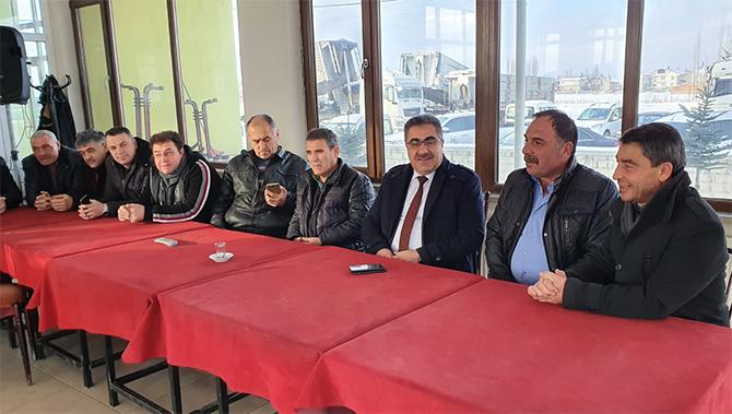 Ertaş'tan Ilgın Taşıyıcılar Kooperatifi'ne ziyaret