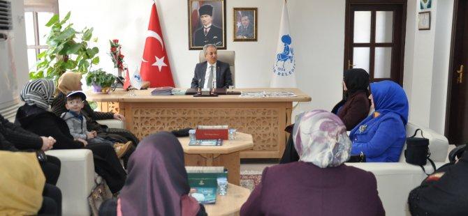 AK Parti Konya İl Kadın Kolları Başkanı'ndan, Başkan Akkaya'ya ziyaret