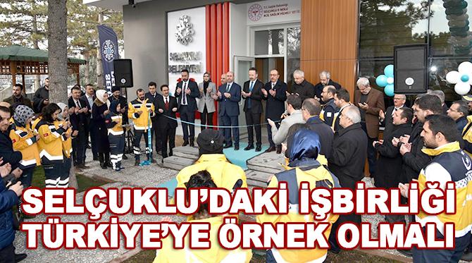 Selçuklu'da sağlık alanında yürütülen işbirliği Türkiye'ye örnek oluyor