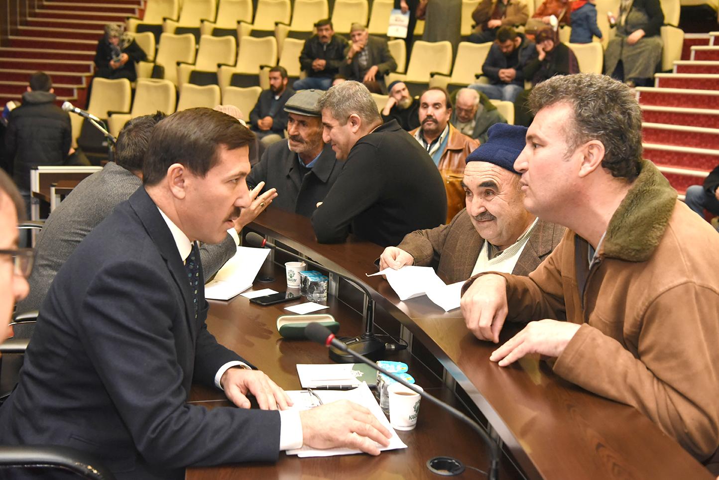 Kılca 'Karatay Söz Meclis'nde vatandaşı dinledi