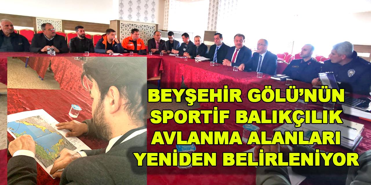 Beyşehir'de sportif balıkçılık avlanma alanları yeniden belirleniyor