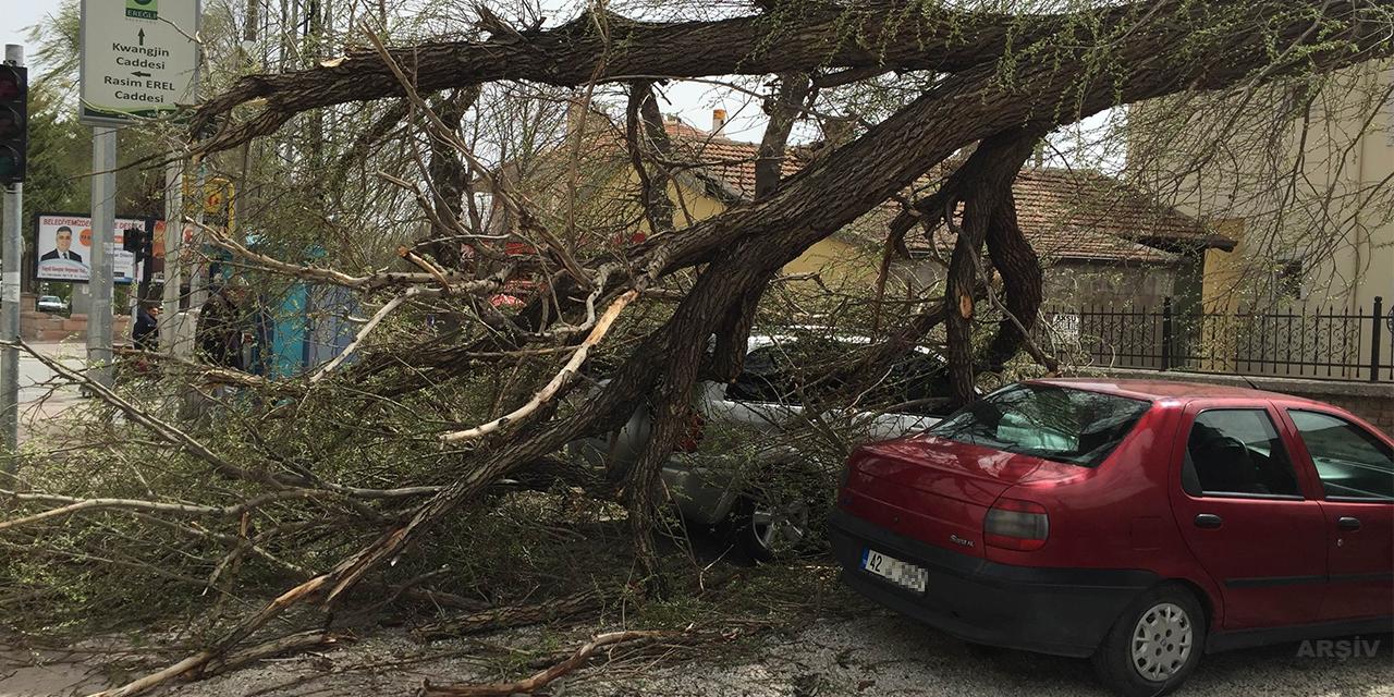 Konya'nın 2 ilçesinde fırtına nedeniyle okullar tatil edildi
