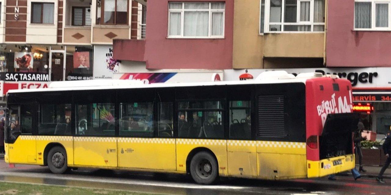 Üsküdar'da İETT otobüsünde yangın paniği