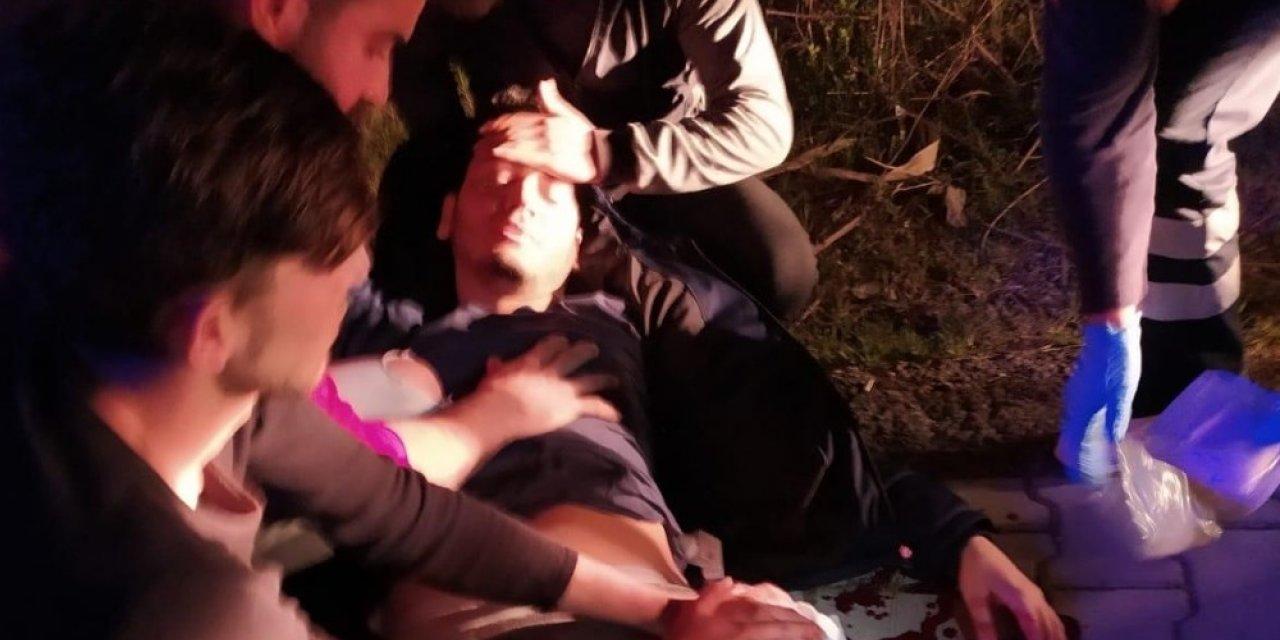 Gençlerin kız kavgasında kan aktı: 1 yaralı