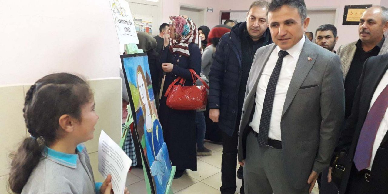 Sorgun Araplı İlkokulu öğrencilerinden sanat sergisi