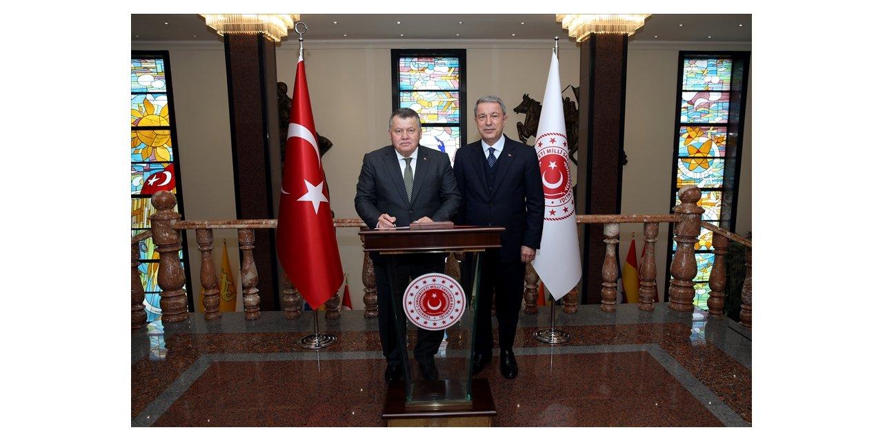 Yargıtay Başkanı Cirit'ten Milli Savunma Bakanı Akar'a veda ziyareti