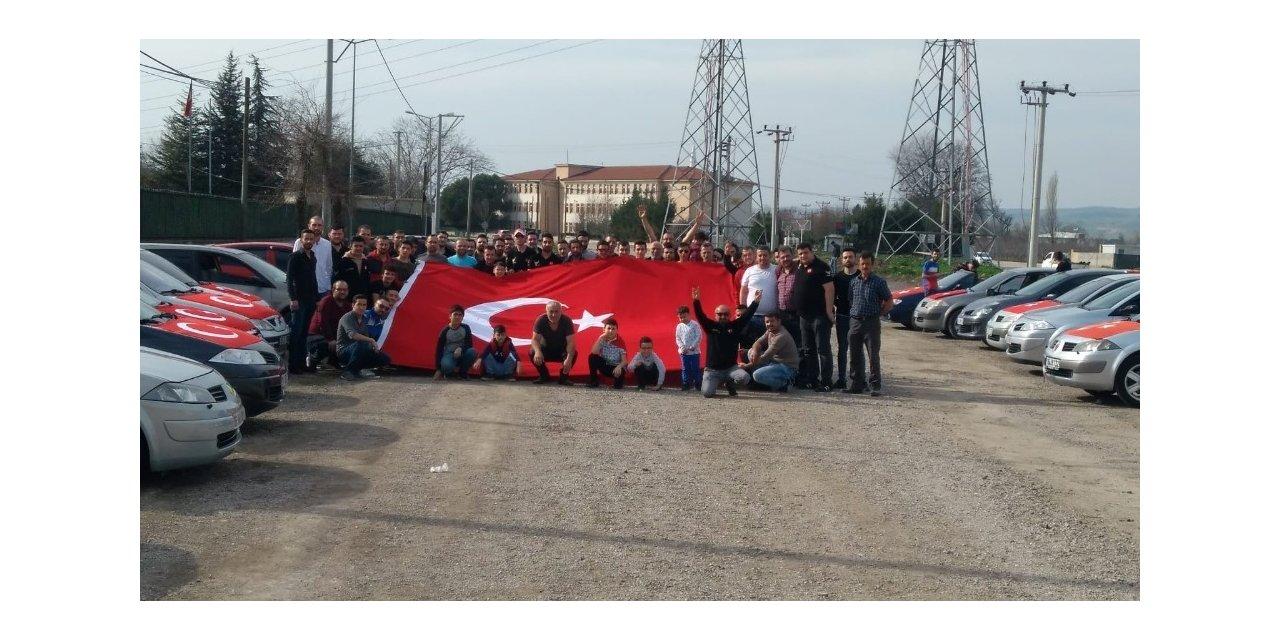 Bursa'da şehitlere saygı konvoyu