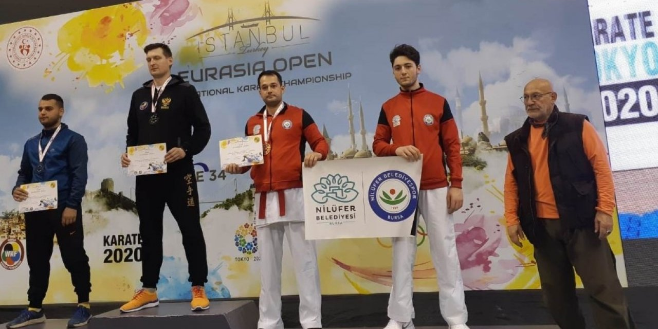 Nilüfer'e bir başarı da karateden