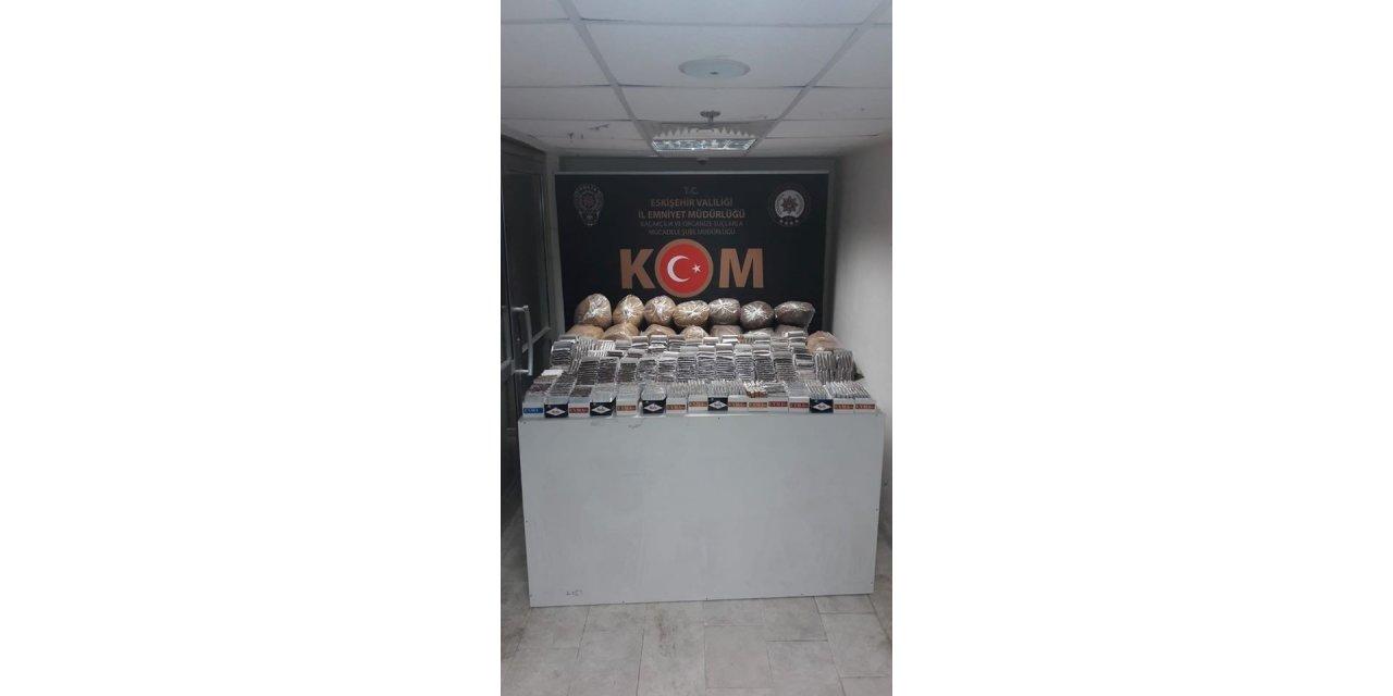 Eskişehir'de kaçak tütün operasyonu: 1 gözaltı