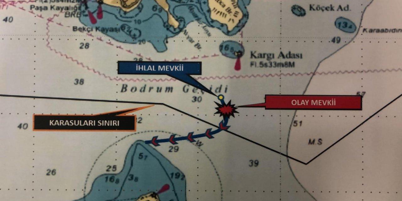 Yunan botu, Türk kara sularından sürülerek çıkarıldı