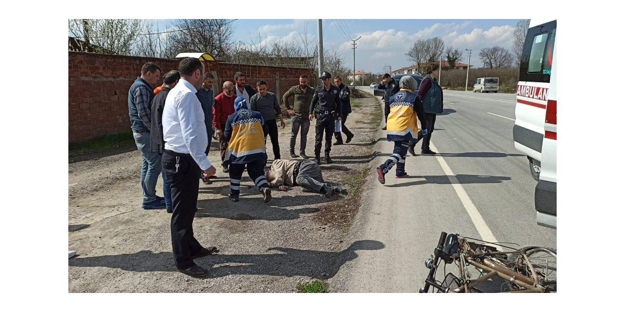 Kazada ağır yaralanan bisiklet sürücüsü kurtarılamadı