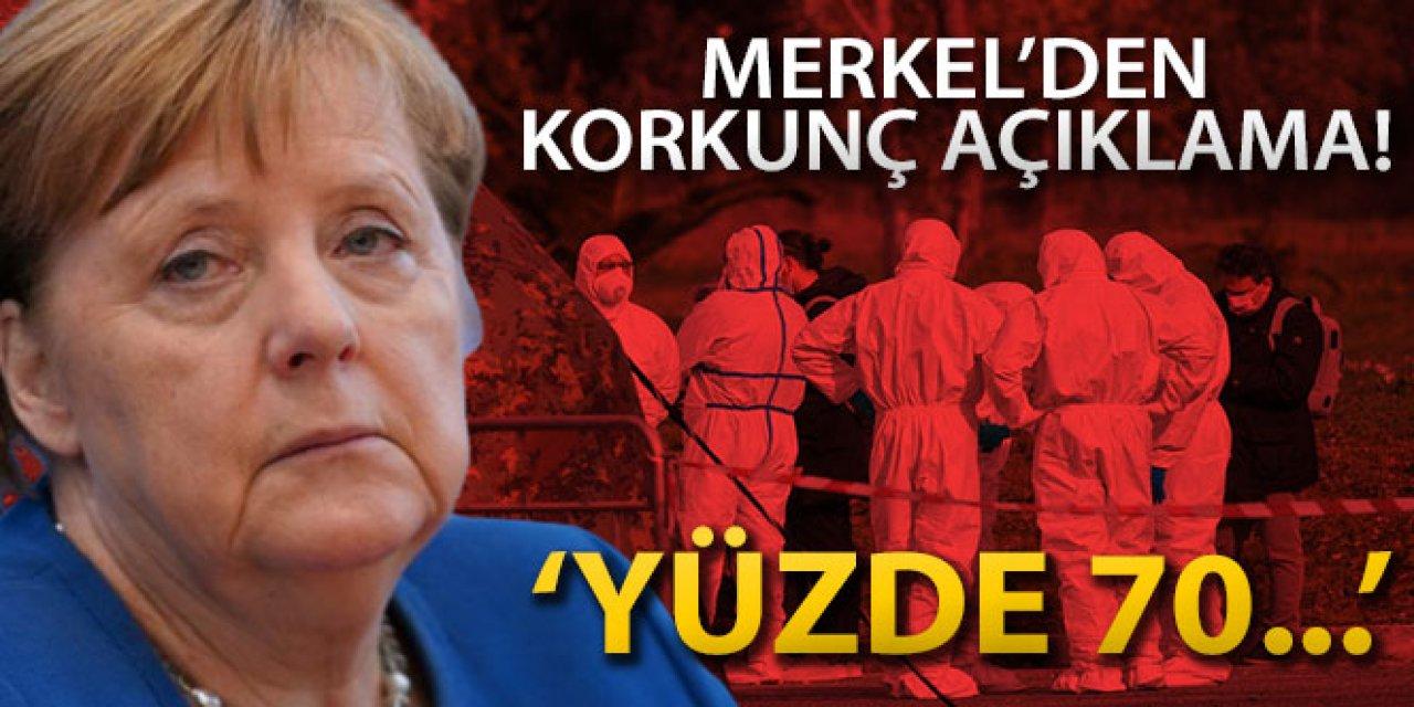 Merkel: Almanya'nın yüzde 70'i enfekte olabilir