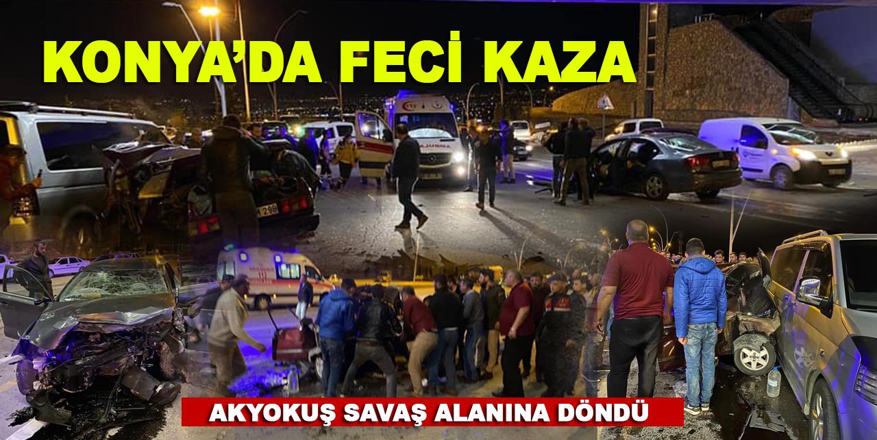 Konya'da feci kaza! 3 kişi öldü