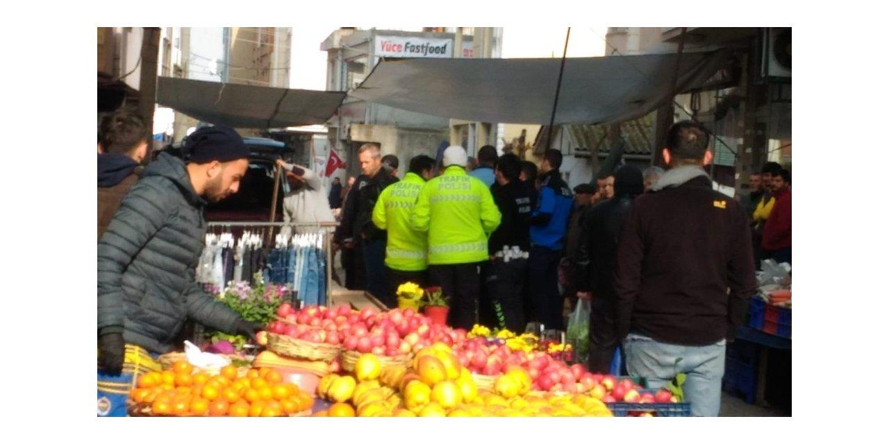 Muratlı'da pazarcı kavgası
