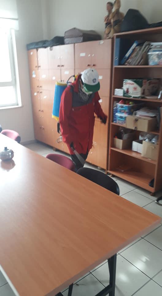 Beyşehir'deki okullarda koronavirüse karşı dezenfekte seferberliği