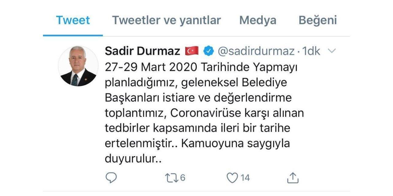 MHP Belediye Başkanları İstişare Toplantısı ertelendi