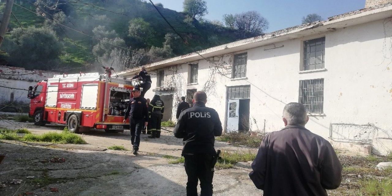 Zeytinyağı fabrikasındaki yangın paniğe neden oldu