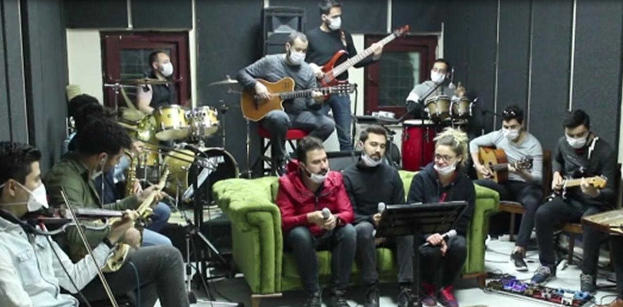 Belediye orkestrasından 'Evde Kal' klibi