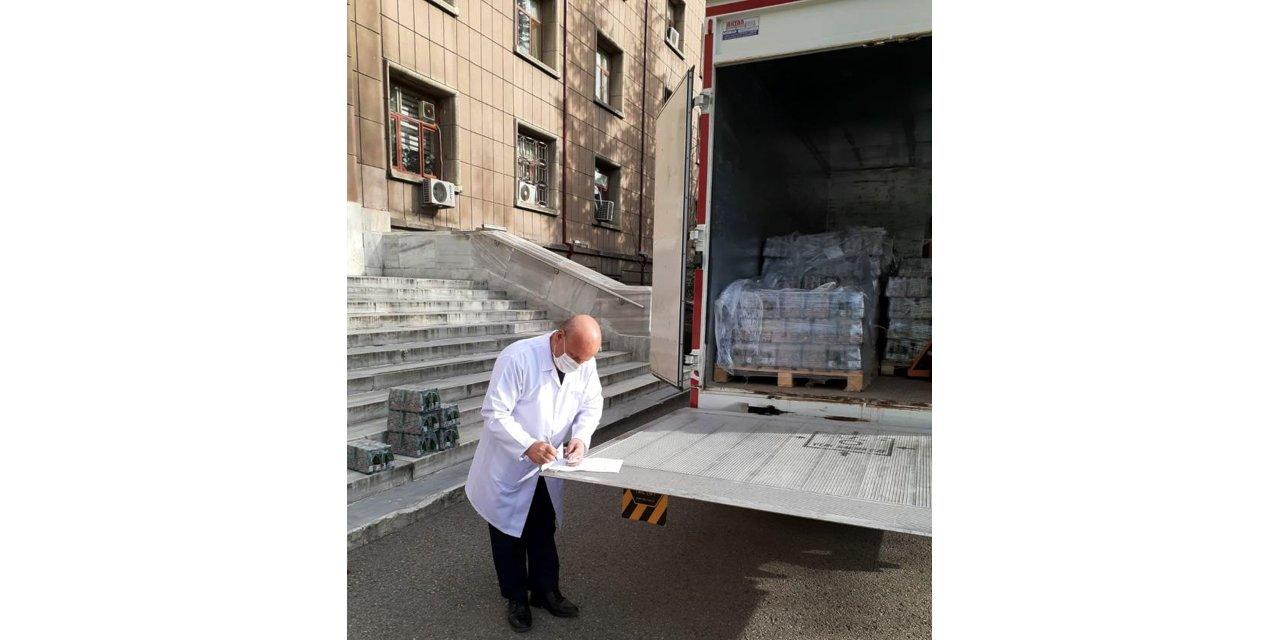 Beypazarı'ndan sağlık çalışanlarına maden suyu desteği