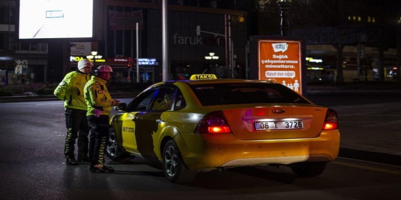 Plaka sınırlama uygulamasını ihlal eden taksiciye ceza kesildi